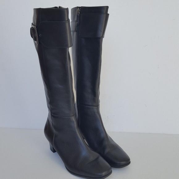 36c53c0d3 Rockport Black Leather Zip Side Tall Dress Boot. M 5bea189ba5d7c6ba21686add